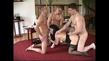 old young and milf Hotty is having fun with 2 pretty bisexual guys