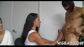 in front cfnm Milf seduce foot sex