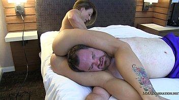 bodyscissors wrestling mixed Marie her first gang bang part 1