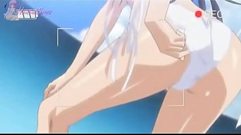 bigboobs swimsuit beach fucked the in hentai slammed Japanese male comes into the room of his sister