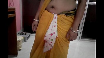 saree tamil her lifting aunty Interracial 3some with luscious virgin