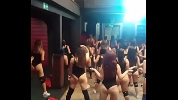 booty naked twerking Mom with group