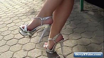 strapon high heels boots Mothet fucking her son