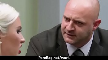 office at vibrator working with while forced Big round ass doggystyle