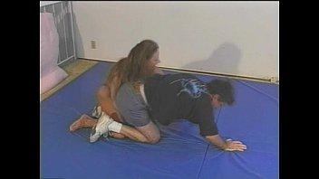 wrestling bodyscissors mixed Muscular nancy lewis pecs