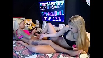 cam up skirt Angel pink and donna bell fucking lucky boyfriend in front of the cameras