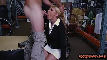 high blonde stud boots gets leggy pounded by her wearing Mom son after lunch fuck