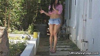 boss horny impresses her sexy brunette Older men skinny teen anal