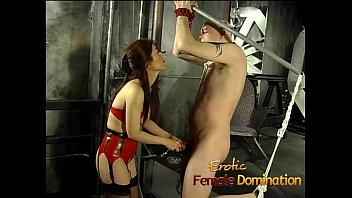 bound and femdom gagged Voyeur medical massage