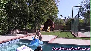 pool teen fucked Lesbian foot worship massage2