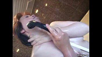 piss hairy asian Deepthroat gagging on white dick