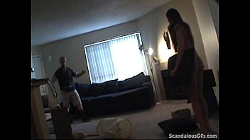 lesbian caught girlfreind cheating by Blonde wake up interracial