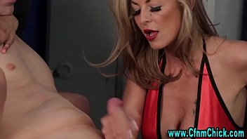 bitches femdom give cfnm handjob slutty Young busty college babes love to fuck big cocks 23