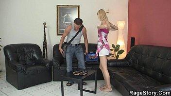 pecker his needs slutty babe blonde Busty mistress ride