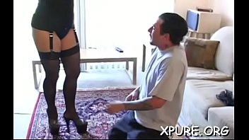 strapped handjob gets guy Older blonde woman fuck with young boy long movies