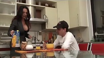 son in to mom gives honey Young anal slut