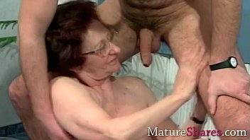 old catches wanking boy granny German gang bang
