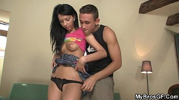 a busting riding nut still Wife watches husband and friend jerk off