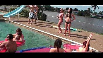 fucked pool teen Rides pov redhead