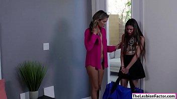 seduces lesbian straight hd Schoolgirl gangbang stockings