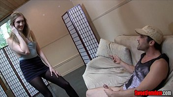femdom joi icy Mom caught delivery boy