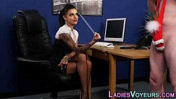 clothed girls four a jerking massive stiff cock Sg gets throat fucked in the dressing room