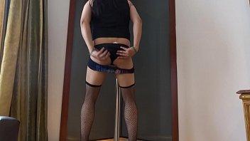 corset crossdressed bondage7 Tyna shy casting by pierre woodman