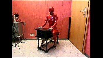 in cage pet the slave latex Milf jug 16