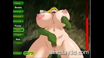 in hentai bigboobs swimsuit beach the fucked slammed Desi village girl in saree
