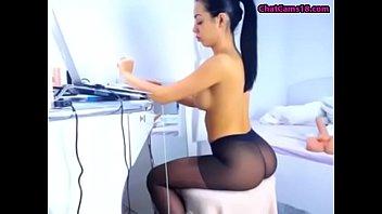 pantyhose milf2 fuck Rubbing cock between pussylips creampie