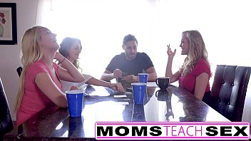out teen by whored mom step gets Boob in public