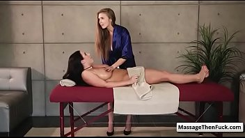 massage white woman married Busty milf facial